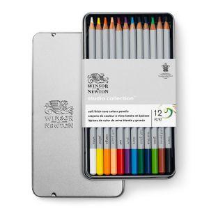 Winsor & Newton Set de 12 crayons de couleur Studio