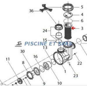 Procopi 52001304 - Panier filtrant de pompe Badu 95
