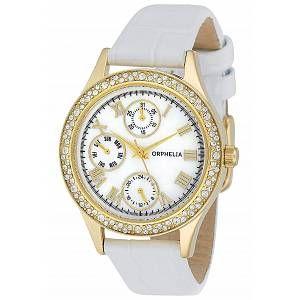 Orphelia OR22173011 - Montre Femme - Quartz - Analogique - Bracelet cuir Blanc