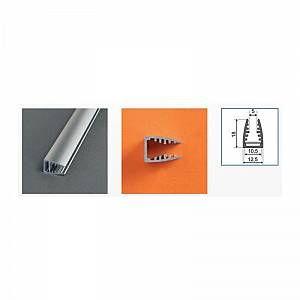 Vision-El Profilé aluminium anodisé LED GLASS 1000 mm pour bandeau LED -