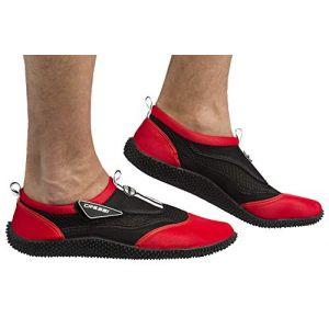 Cressi Reef Shoes Chaussons pour Sport Aquatique Mixte Adulte, Noir/Rouge, 44 EU