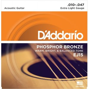D'Addario EJ15 jeu de cordes pour guitare folk