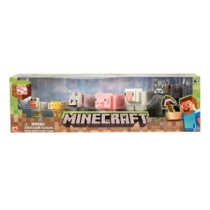 Jazwares Construction Minecraft pack de 6 animaux de base