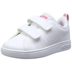 Adidas VS ADV CL CMF Inf, Pantoufles Mixte Bébé, Blanc (White 000), 21 EU