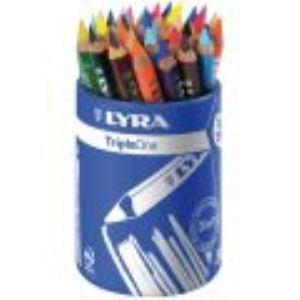 Lyra 3643360 - Pot de 36 crayons de couleur Triple One assortis