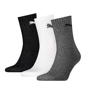 Puma 9 pair Sport Socken Short Crew Tennis Socks Gr. 35-49 Unisex, Farben:882 - grey/white/black, Socken & Strümpfe:39-42