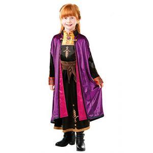 Rubie's Déguisement Officiel Luxe Anna La Reine des Neiges 2 - Taille 7-8 ans