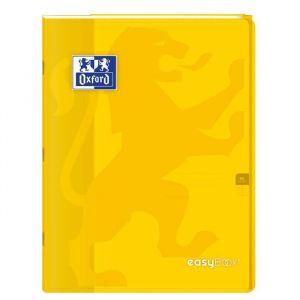Oxford Cahier Easybook agrafé - 17 x 22 cm - 96p seyès - 90g - Jaune
