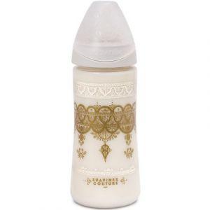 Suavinex Biberon Ethnic 360 ml Silicone Rond - Blanc