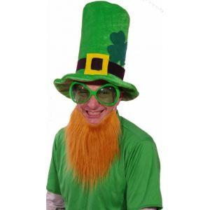 Ptit Clown Chapeau velours avec barbe rousse Saint Patrick