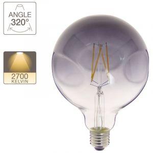 Xanlite Ampoule LED globe irrégulière verre fumé culot E27