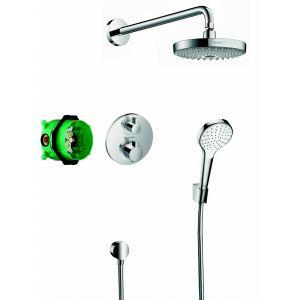 Hansgrohe Pack encastré Design ShowerSet Croma Select S / Ecostat S chromé 27295000