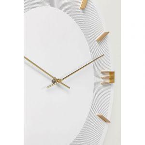 Kare Design Horloge Murale Blanche et Dorée LEO
