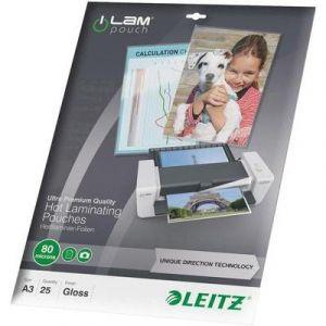 Leitz 25 pochettes de plastification iLAM 80 microns UDT A3