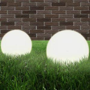VidaXL Lampe à LED sous forme de boule 2 pcs Sphérique 25 cm PMMA