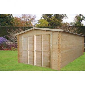 Chalet et Jardin Courchevel - Garage en bois 12,80 m2