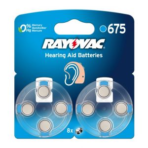 Rayovac 8 piles auditives PR44 V675