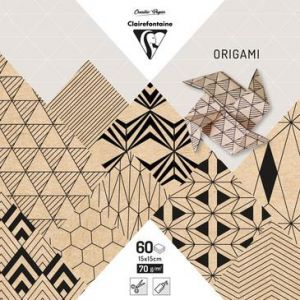 Clairefontaine Pochette 60 Feuilles Origami 15x15 cm - Krafty