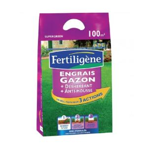 Fertiligene engrais d sherbant gazon anti mousses 6 kg comparer avec - Engrais gazon desherbant ...