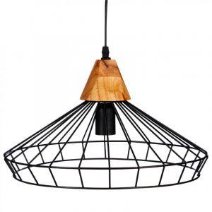 Lampe Suspension Métal 38cm Noir Prix