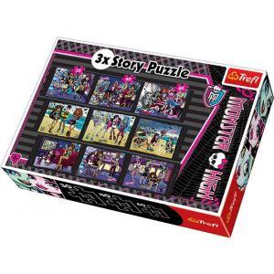 Trefl Coffret de 3 puzzles Monster High 30, 40 et 60 pièces