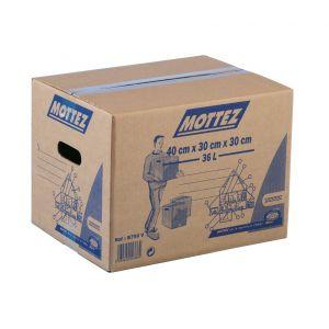 Mottez Carton de déménagement - Carton 36 l - Charge utile 20 kg