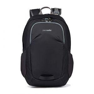 PacSafe Venturesafe G3 15 litres, Technologie antivol, 100D Nylon Diamond Ripstop, Sac à Dos de Jour, Sac à Dos de randonnée, Bagage avec Technologie de sécurité, 15 litres, Noir