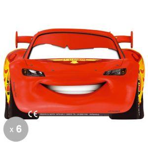6 masques en carton Cars