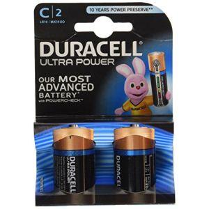 Duracell 2 piles alcalines C LR14 Ultra Power