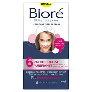 Bioré 6 patchs nez ultra purifiants
