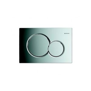 Geberit 115.770.21.5 - Plaque déclenchement double touche SIGMA 01 chromé brillant. compatible bati SIGMA DUOFIX UP 320 et 720
