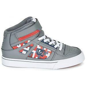 DC Shoes Baskets montantes enfant PURE HIGH-TOP SE EV Gris - Taille 36,37,38,39,33,34,35