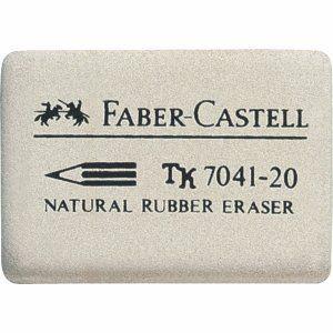 Faber-Castell 184120 - Gomme en caoutchouc 7041-20, blanc