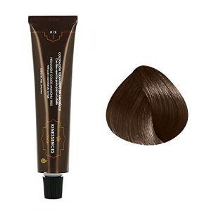 Kin Cosmetics Coloration permanente sans ammoniaque aux 5 huiles 6.50 : Blond Foncé Brun Chocolat Sans ammoniaque, Crème 60ml