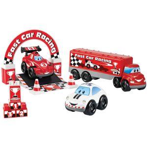 Ecoiffier Ensemble de 3 véhicules Fast Car F1 Abrick