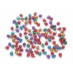 Crafty Capers 100 Jewel Colour 6mm Mini Jingle Bells Craft Bells