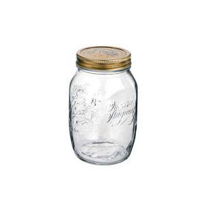 Bormioli Rocco Set de 12 bocaux / pots à conserve 1 L en verre avec couvercles 86mm - Quattro Stagioni