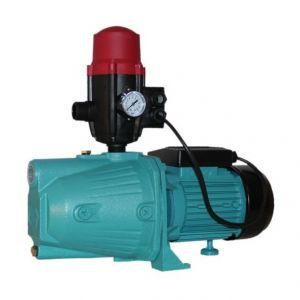 Omni Pompe d'arrosage JET100 avec pressostat POMPE DE JARDIN pour puits 1100 W 60l/min + BRIO SK-13