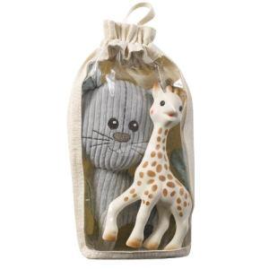 Vulli Set peluche Lazare le chat et Sophie la girafe
