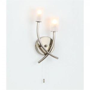 5010400889 - Applique murale Sonnet deux lampes en laiton