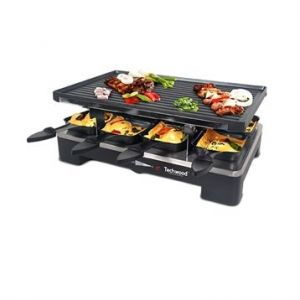 Techwood Raclette grill et plancha 8 pers
