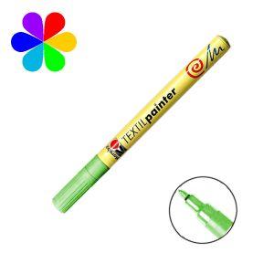 Marabu 011603062 - Marqueur pour tissu Textil Painter, vert clair, pointe ogive 1-2 mm