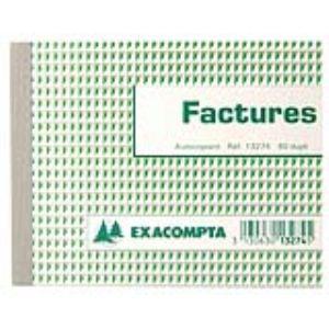 Exacompta Manifold facture autocopiant 50 feuillets dupli (105 x 135 mm)