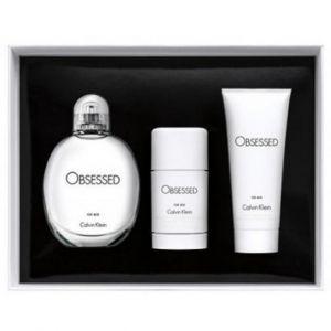 Calvin Klein Obsessed - Coffret eau de toilette, gel douche et déodorant stick
