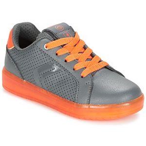 Geox Kommodor B, Sneakers Basses Garçon, Gris (DK Grey/Orange), 32 EU