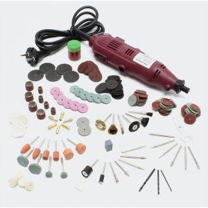 Mini perceuse foreuse fraiseuse polisseuse avec tige flexible 234 accessoires outil multifonctions bricolage atelier