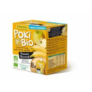 Danival Poki Bio - 8 compotes pomme / banane