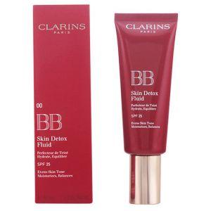 Clarins BB Skin Detox Fluid 00 Fair - Perfecteur de teint hydrate, équilibre SPF 25