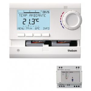 Theben Thermostat programmable à commande radio - Ramses 833 Top2 HF