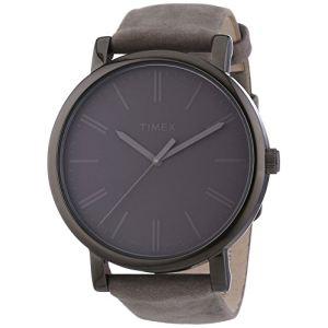 Timex T2N795D7 - Montre pour femme avec bracelet en cuir
